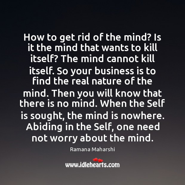 how to get rid of the egoic mind