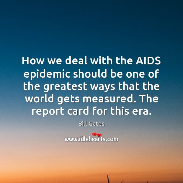 Image, How we deal with the AIDS epidemic should be one of the