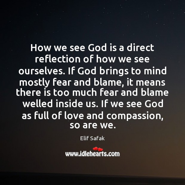 How we see God is a direct reflection of how we see Image
