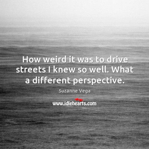 Image, How weird it was to drive streets I knew so well. What a different perspective.