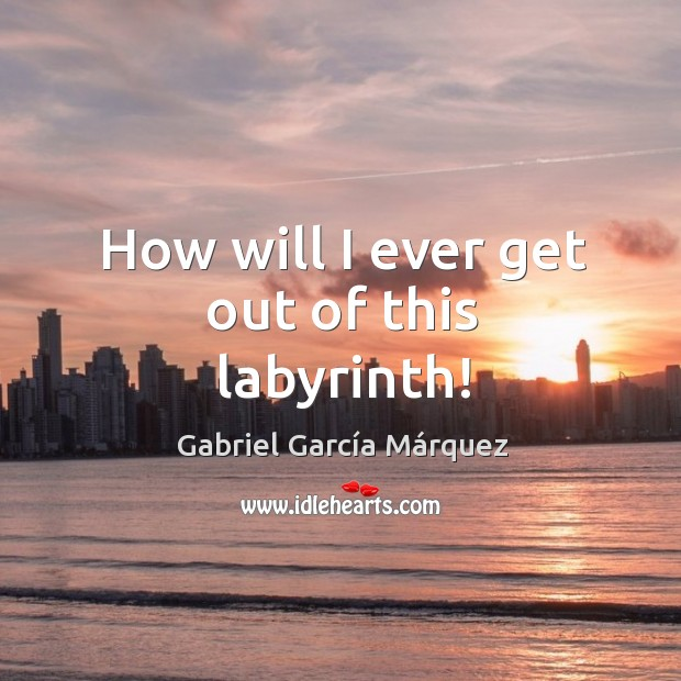 How will I ever get out of this labyrinth! Image