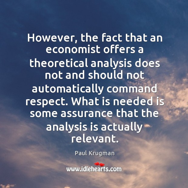 Image, However, the fact that an economist offers a theoretical analysis does not