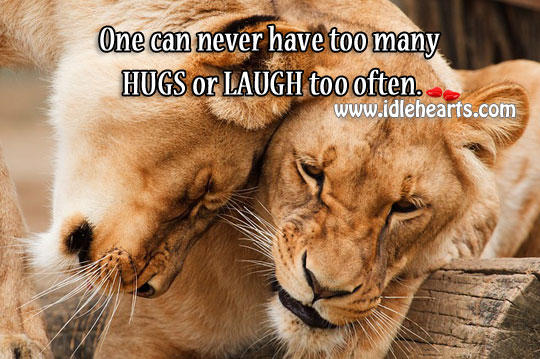 Too many hugs or laugh too often. Image
