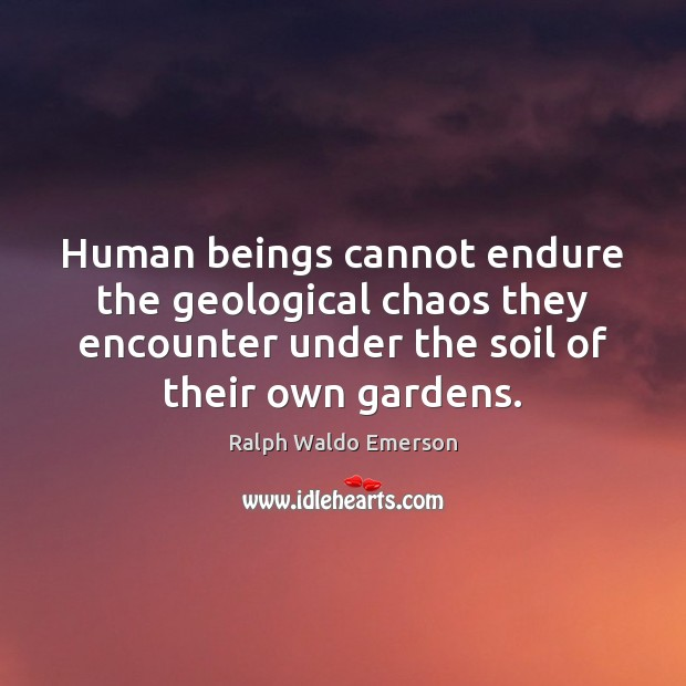 Human beings cannot endure the geological chaos they encounter under the soil Image
