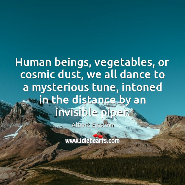 Image, Human beings, vegetables, or cosmic dust, we all dance to a mysterious