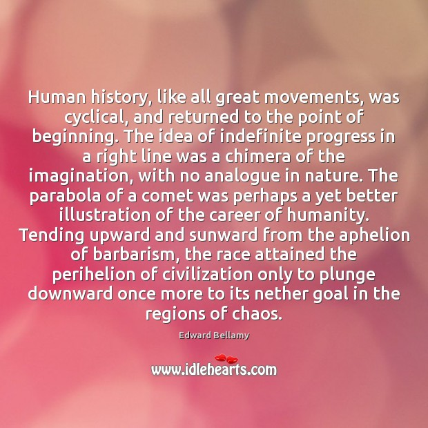 Image, Human history, like all great movements, was cyclical, and returned to the