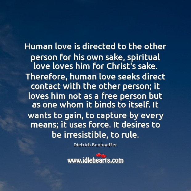 Human love is directed to the other person for his own sake, Image