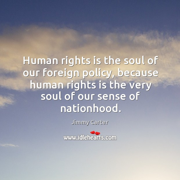 Image, Human rights is the soul of our foreign policy