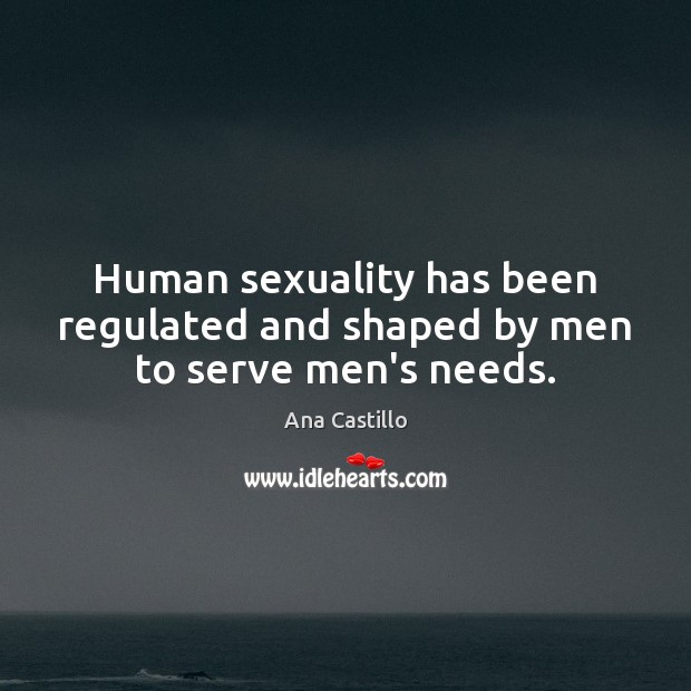 Image, Human sexuality has been regulated and shaped by men to serve men's needs.