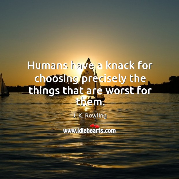 Humans have a knack for choosing precisely the things that are worst for them. Image