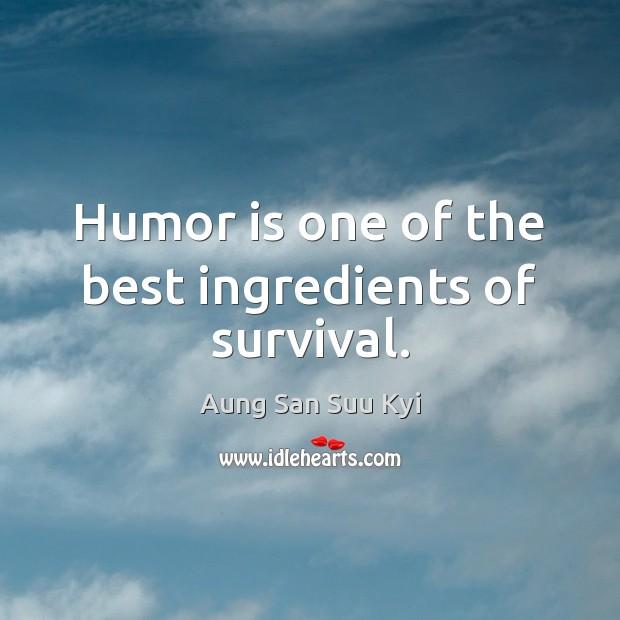 Humor is one of the best ingredients of survival. Image