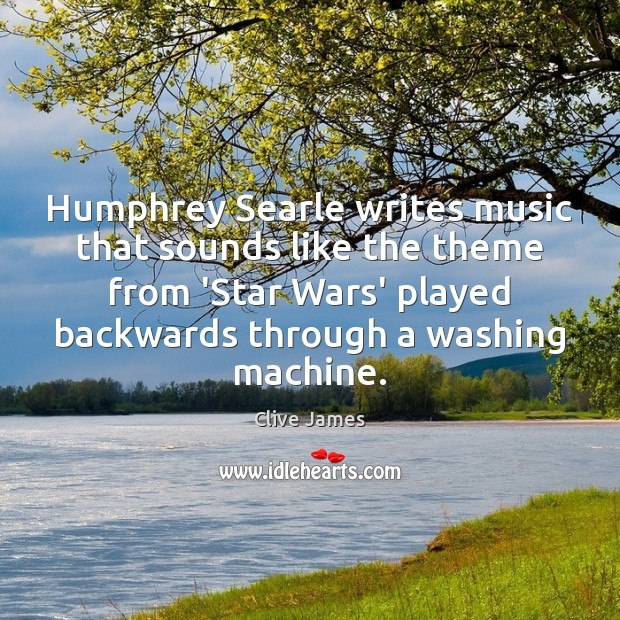 Humphrey Searle writes music that sounds like the theme from 'Star Wars' Image