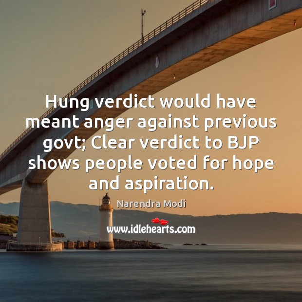 Image, Hung verdict would have meant anger against previous govt; Clear verdict to