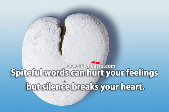 Silence breaks heart. Sad Quotes Image