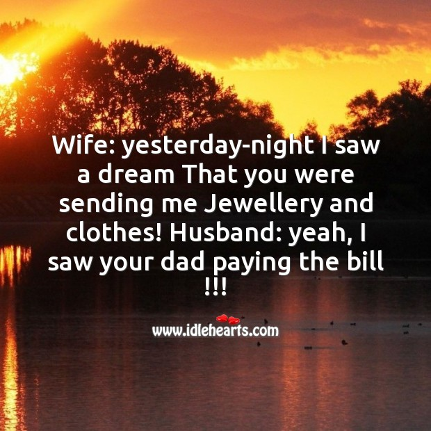 Husband and wife joke Funny Messages Image