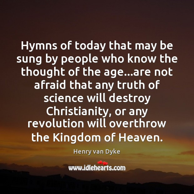 Hymns of today that may be sung by people who know the Image