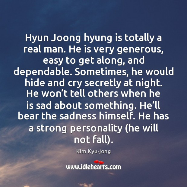 Hyun Joong hyung is totally a real man. He is very generous, Image