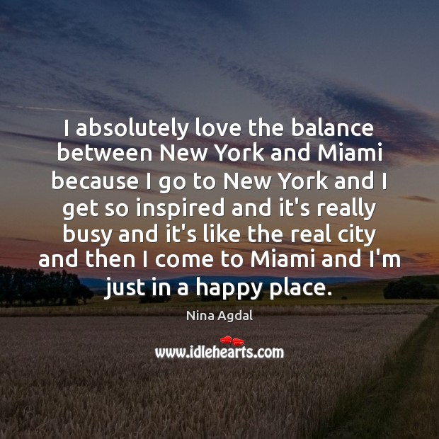 Image, I absolutely love the balance between New York and Miami because I