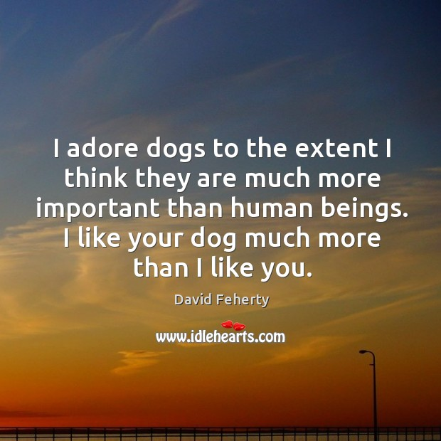 I adore dogs to the extent I think they are much more Image