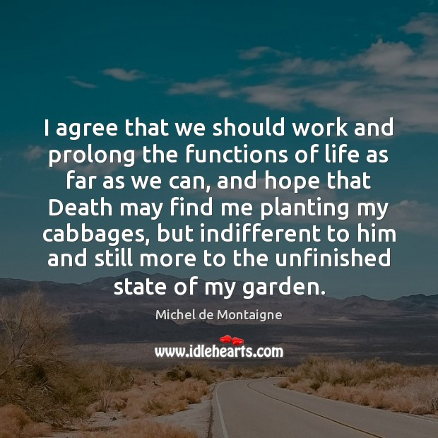 Image, I agree that we should work and prolong the functions of life