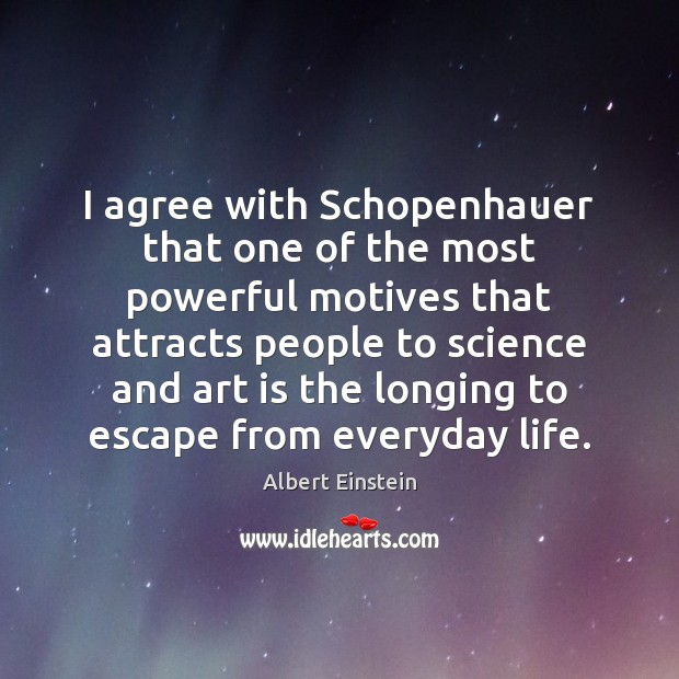 Image, I agree with Schopenhauer that one of the most powerful motives that