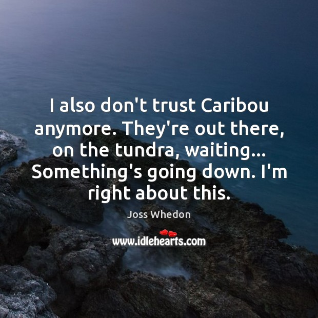 Image, I also don't trust Caribou anymore. They're out there, on the tundra,