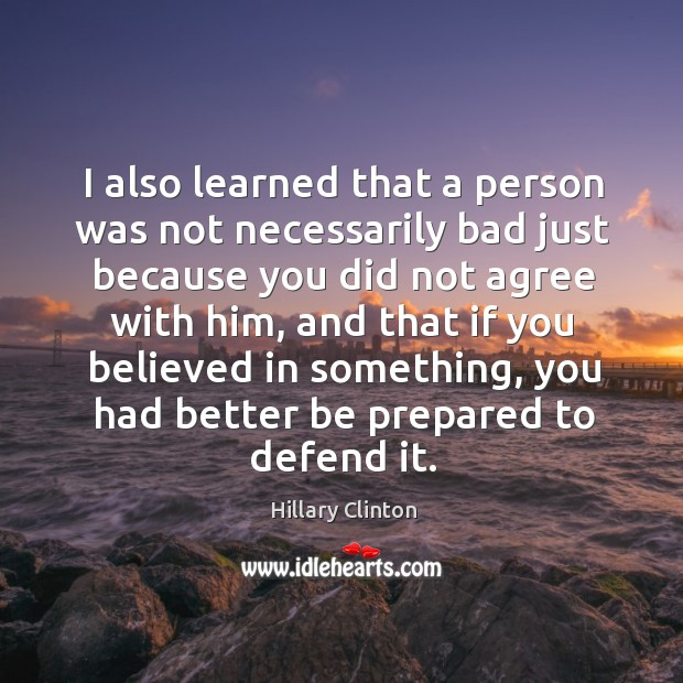 Image, I also learned that a person was not necessarily bad just because