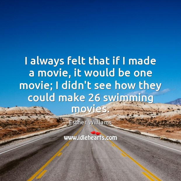 I always felt that if I made a movie, it would be Image