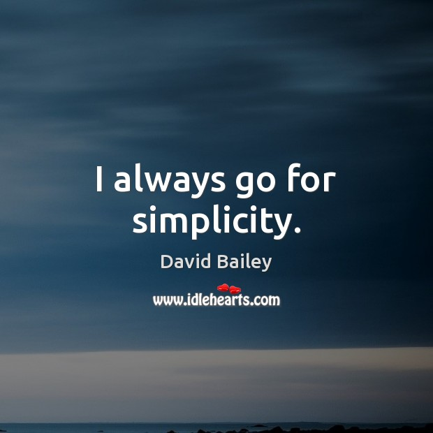 Image, I always go for simplicity.