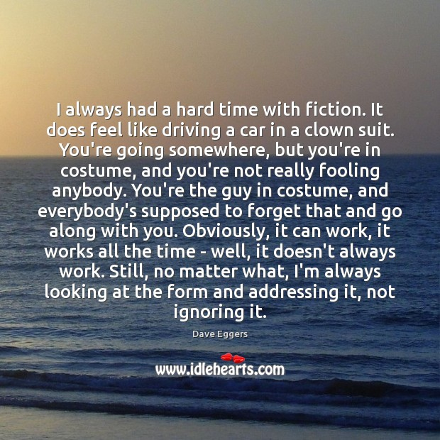 I always had a hard time with fiction. It does feel like Image