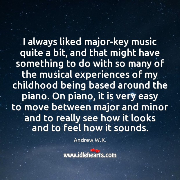 Image, I always liked major-key music quite a bit, and that might have