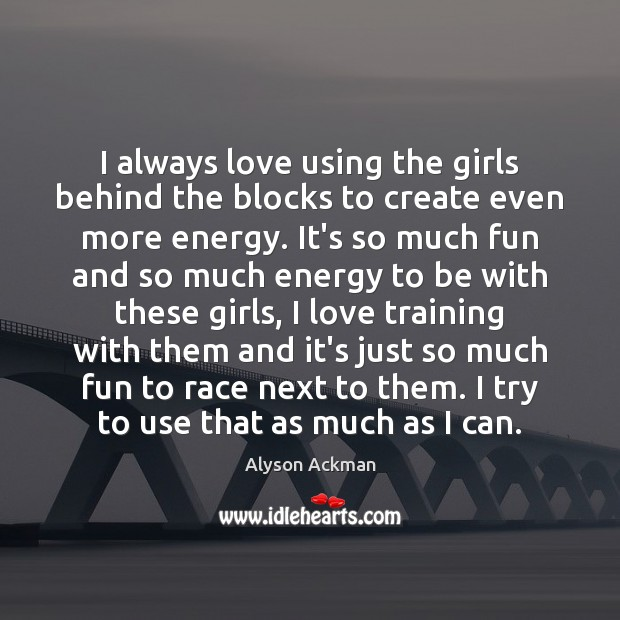 Image, I always love using the girls behind the blocks to create even