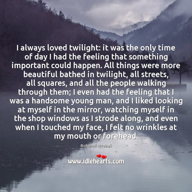 Image, I always loved twilight: it was the only time of day I
