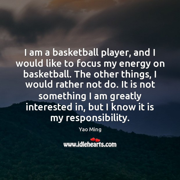 I am a basketball player, and I would like to focus my Image