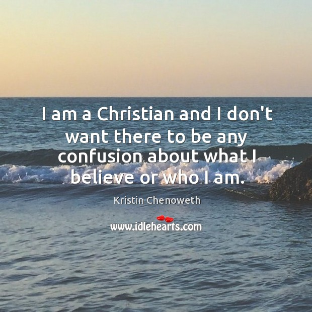 I am a Christian and I don't want there to be any Image