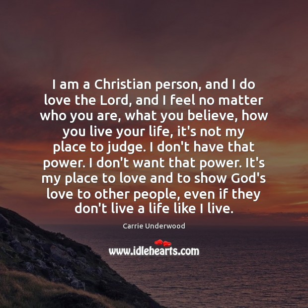I am a Christian person, and I do love the Lord, and Image