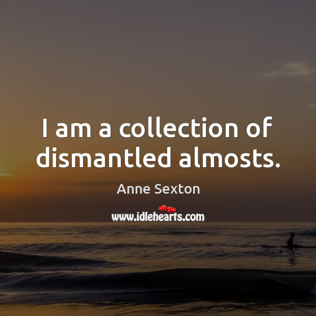 I am a collection of dismantled almosts. Image