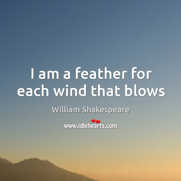 Image, I am a feather for each wind that blows