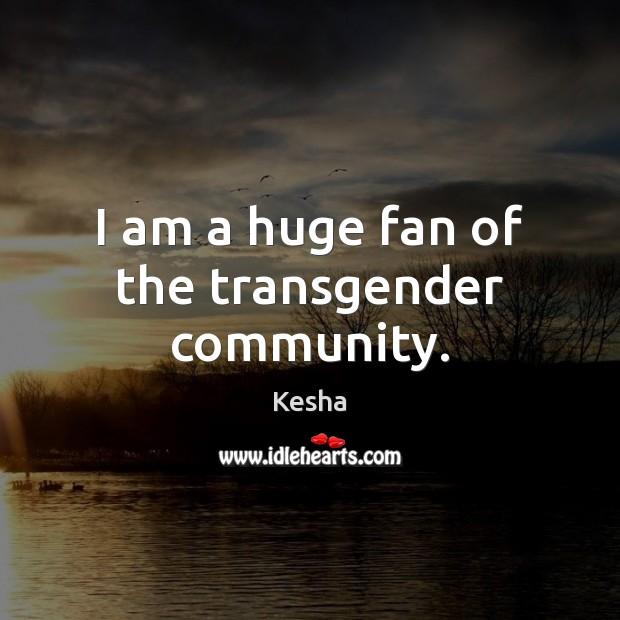 I am a huge fan of the transgender community. Image