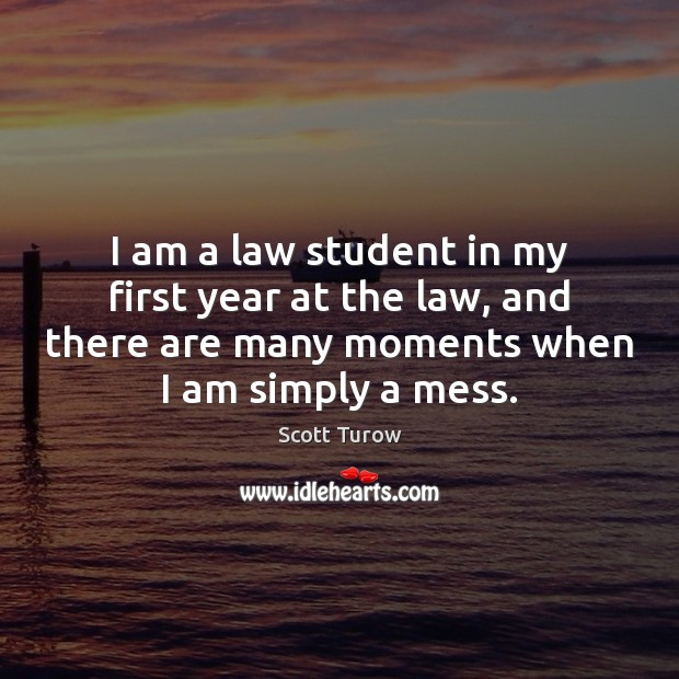 I am a law student in my first year at the law, Image