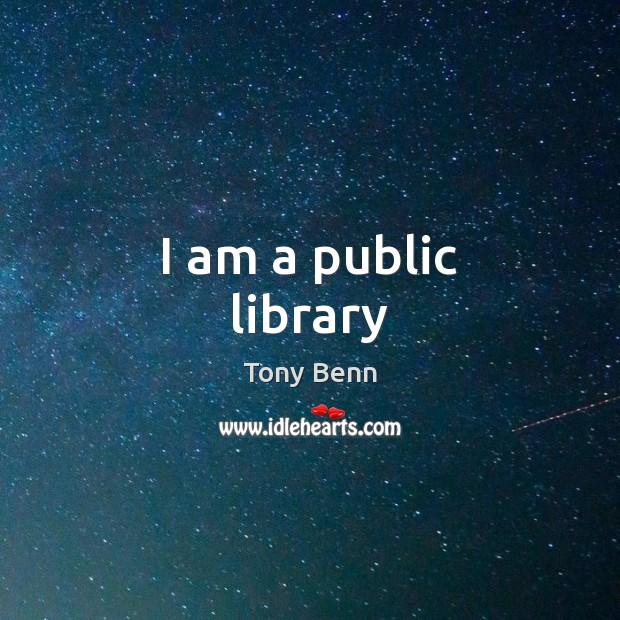Image, I am a public library