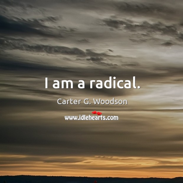 I am a radical. Image