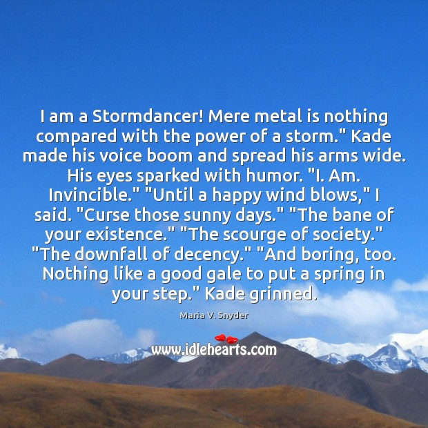 Image, I am a Stormdancer! Mere metal is nothing compared with the power