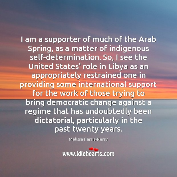 I am a supporter of much of the Arab Spring, as a Image