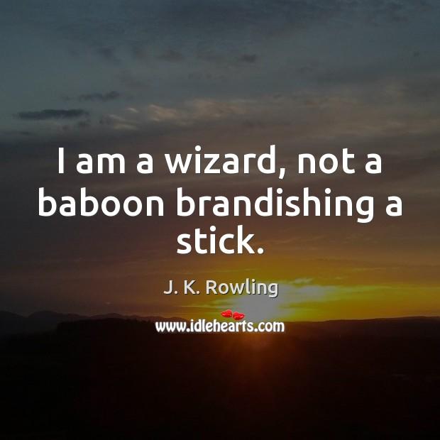 Image, I am a wizard, not a baboon brandishing a stick.