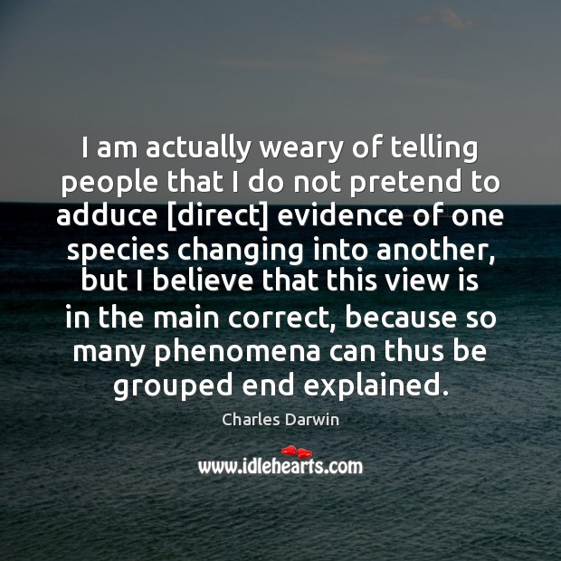 I am actually weary of telling people that I do not pretend Image