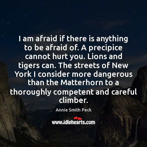 Image, I am afraid if there is anything to be afraid of. A