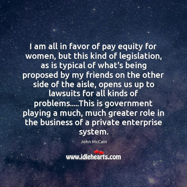 Image, I am all in favor of pay equity for women, but this