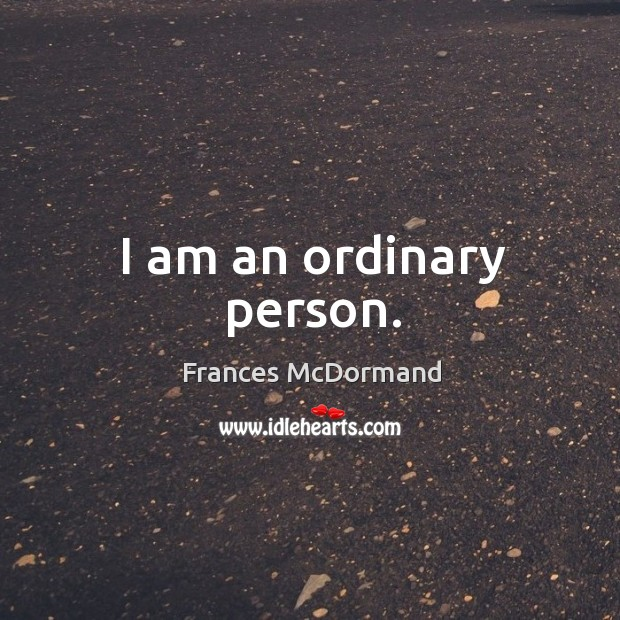 I am an ordinary person. Image