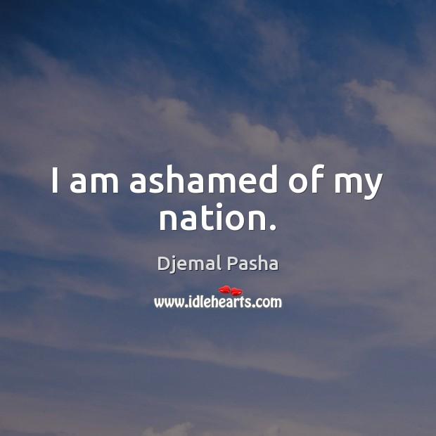 Image, I am ashamed of my nation.